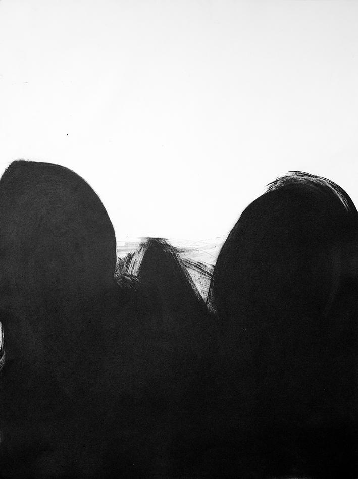 円相-28 Ensō. Grabado al carborundo 1/5 edición limitada a 5 + P/A. Papel: Biblos 250gr. Medidas: mancha 70 x 50 cm, papel 70 x 50 cm. Estampado: Litografía Viña, Gijón.