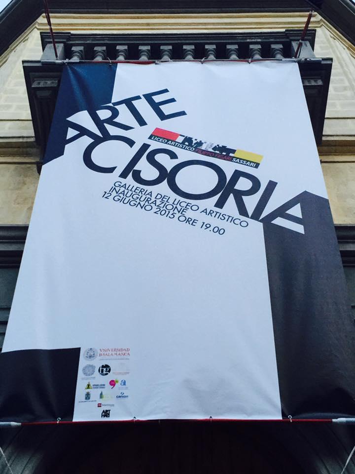 ARTE CISORIA, en el LICEO ARTÍSTICO de SASSARI (Cerdeña). Foto: Rafa Vargas