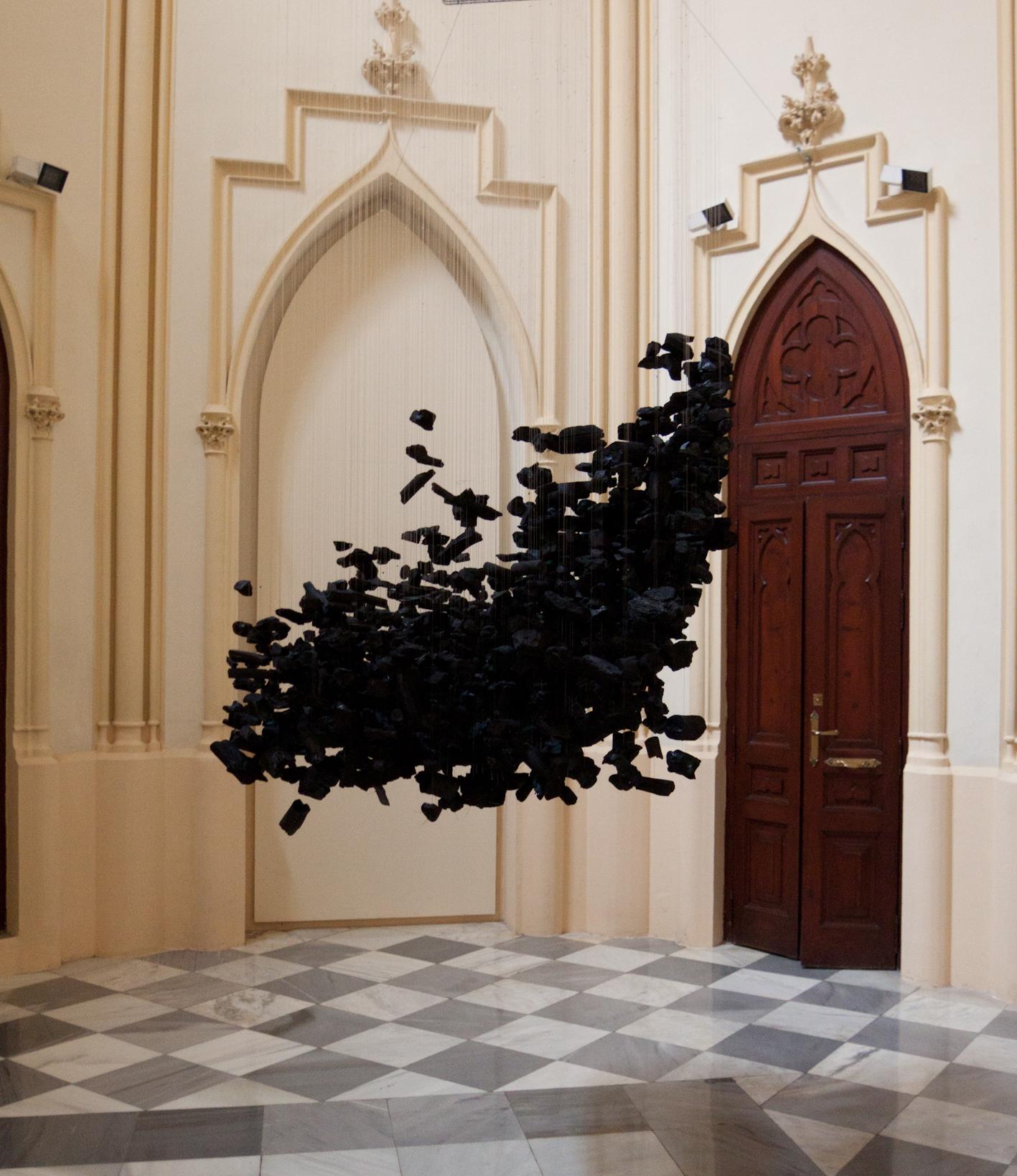 grabado, grafica expandida, negro, silencio, premio, capilla convalecencia, arte contemporáneo